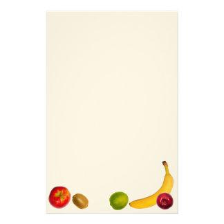 Diseño de frutas. No dude en para añadir su propio Papelería Personalizada
