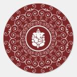 Diseño de Ganesha Etiqueta Redonda