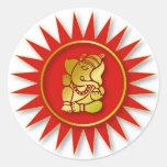 Diseño de Ganesha Pegatinas Redondas