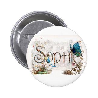 """Diseño de hadas personalizado de """"Sophie"""" Pin Redondo De 2 Pulgadas"""