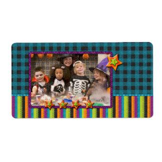 Diseño de Halloween - añada su foto Etiqueta De Envío