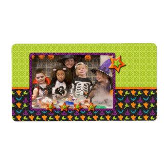 Diseño de Halloween - añada su foto Etiquetas De Envío