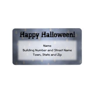 Diseño de Halloween con el modelo de la tormenta d Etiquetas De Dirección
