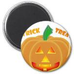 Diseño de Halloween de la calabaza de la linterna  Iman De Frigorífico