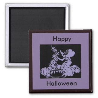 Diseño de Halloween del Brew de la bruja Imanes