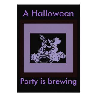 Diseño de Halloween del Brew de la bruja