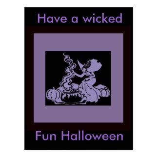 Diseño de Halloween del Brew de la bruja Tarjetas Postales