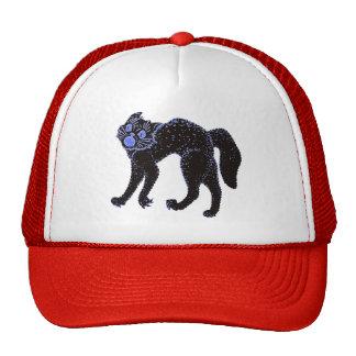 Diseño de Halloween del gato negro Gorras