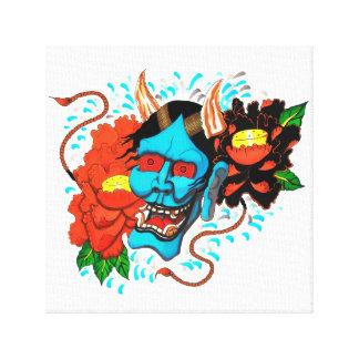 Diseño de Hannya del estilo del tatuaje - Impresiones En Lona