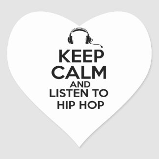 Diseño de Hip Hop Pegatina Corazón Personalizadas