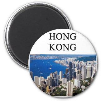 diseño de Hong-Kong Imán Redondo 5 Cm