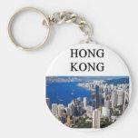 diseño de Hong-Kong Llavero Redondo Tipo Pin