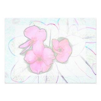 diseño de instalaciones floral del bosquejo rosado