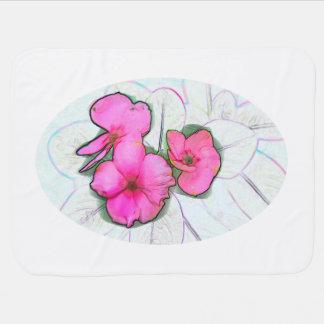 diseño de instalaciones floral del bosquejo rosado mantita para bebé
