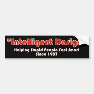 """""""Diseño de Intellegent """" Pegatina Para Auto"""
