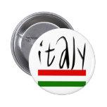 ¡Diseño de Italia! Pin Redondo De 2 Pulgadas