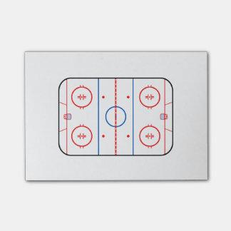 Diseño de juego de hockey del diagrama de la pista notas post-it®