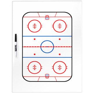 Diseño de juego de hockey del diagrama de la pista pizarras