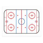 Diseño de juego de hockey del diagrama de la pista postales
