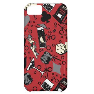 Diseño de juego retro del casino de Viva Vegas Funda Para iPhone 5C