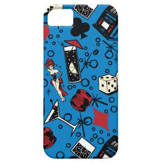 Diseño de juego retro del casino de Viva Vegas iPhone 5 Carcasas
