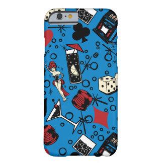 Diseño de juego retro del casino de Viva Vegas Funda Barely There iPhone 6