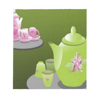 Diseño de juegos de té verde