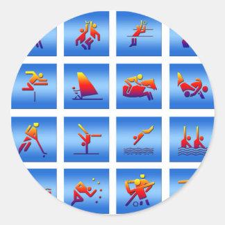 Diseño de juegos pegatina redonda