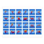 Diseño de juegos tarjetas postales