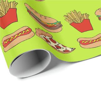 Diseño de Junk Food Papel De Regalo