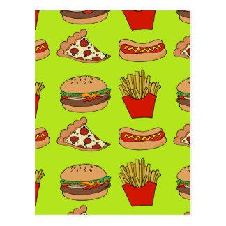 Diseño de Junk Food Postal