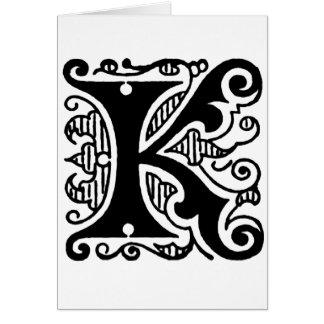 Diseño de K Felicitación