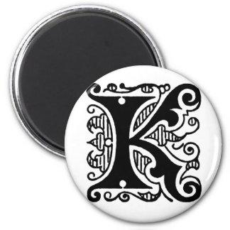 Diseño de K Imán Redondo 5 Cm