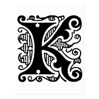Diseño de K Tarjeta Postal