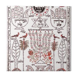 Diseño de Kabbalah Azulejo Cerámica