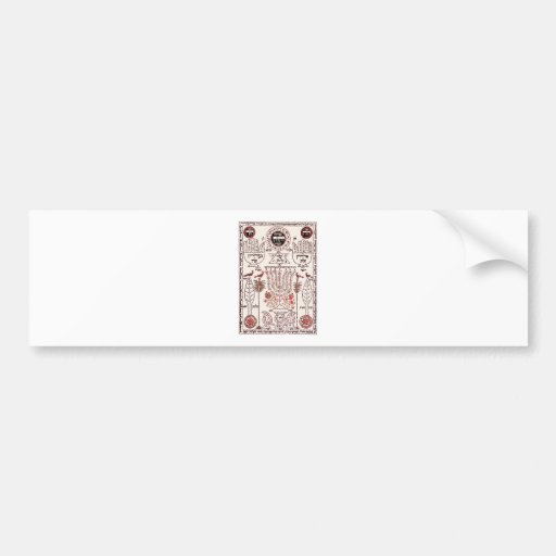 Diseño de Kabbalah Pegatina De Parachoque