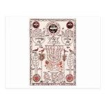 Diseño de Kabbalah Tarjeta Postal