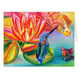 Diseño de Kingfisher&Goldfish toda la tarjeta de