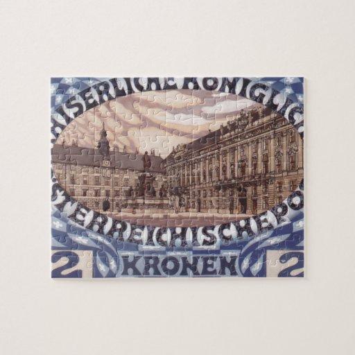 Diseño de Koloman Moser- para el sello austríaco d Rompecabezas