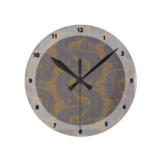 Diseño de Koloman Moser- para la tela Reloj Redondo Mediano
