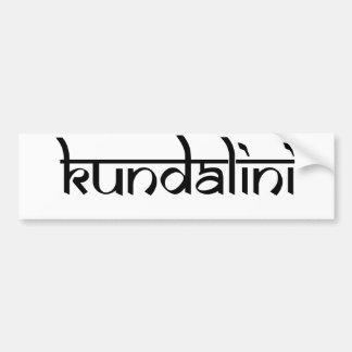 Diseño de Kundalini en estilo sánscrito Pegatina De Parachoque