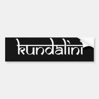 Diseño de Kundalini en estilo sánscrito Pegatina Para Auto