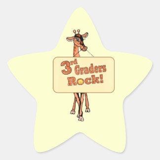 """Diseño de la """"3ro roca de los graduadores"""" de la pegatina en forma de estrella"""