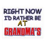 Diseño de la abuela postales