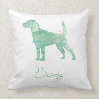 Diseño de la acuarela del beagle almohadas