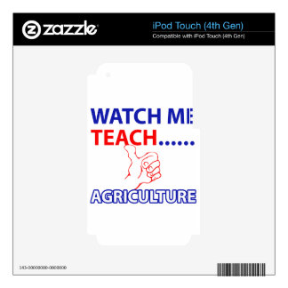 Diseño de la agricultura iPod touch 4G calcomanía