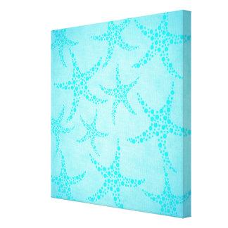Diseño de la aguamarina y de las estrellas de mar  impresiones en lienzo estiradas
