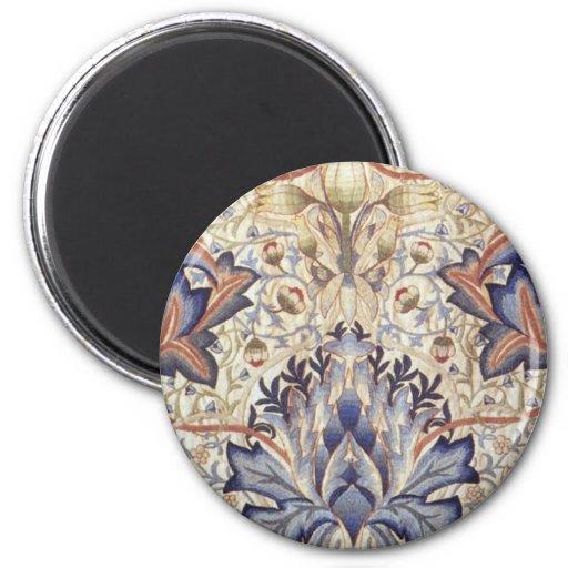 Diseño de la alcachofa de William Morris Imán De Frigorífico