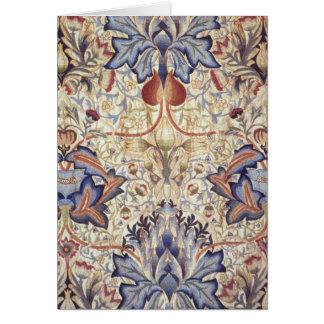Diseño de la alcachofa de William Morris Tarjeta