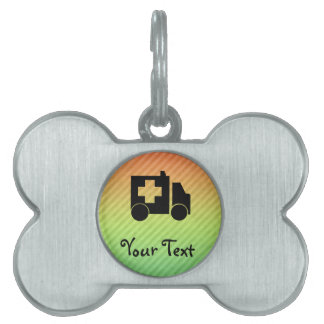 Diseño de la ambulancia placas de mascota